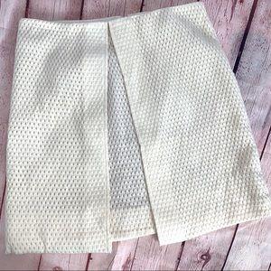 Tibi New York Split Front Wool Skirt